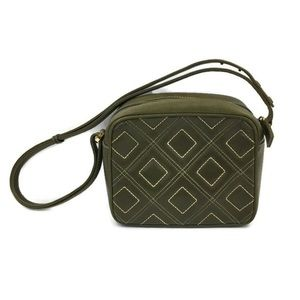 Suarez Green Quilted Square Small Shoulder Purse